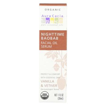 Aura Cacia Organic Face Oil Serum - Baobab - 1 fl oz