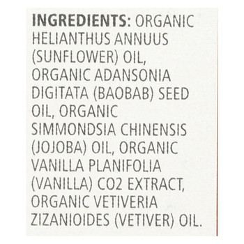 Aura Cacia Organic Face Oil Serum - Baobab - 1 fl oz