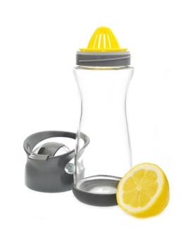 Full Circle Home On the Go Lemon Glass Water Bottle - Blackberry
