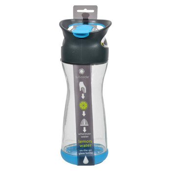 Full Circle Home On the Go Lemon Glass Water Bottle - Blueberry