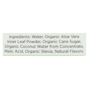 Aloe Gloe Coconut Organic Aloe Water - Case of 12 - 15.2 fl oz.