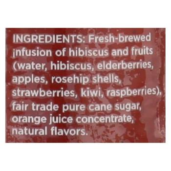 Argo Tea Iced Green Tea - Hibiscus Tea Sangria - Case of 12 - 13.5 Fl oz.