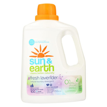 Sun and Earth 2X Laundry Liquid - Lavender - Case of 4 - 100 fl oz