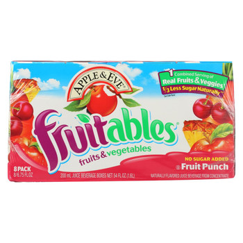 Apple and Eve Juice Boxes Fruit Punch - Case of 5 - 8/200 Ml
