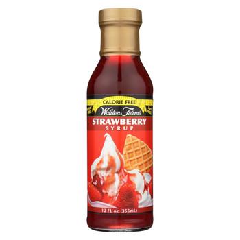 Walden Farms Syrup - Sugar Free Strawberry - Case of 6 - 12 fl oz