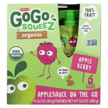 GoGo Squeeze Applesauce - Apple Berry - Case of 12 - 3.2 oz.