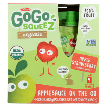 GoGo Squeeze Applesauce - Apple strawberry - Case of 12 - 3.2 oz.