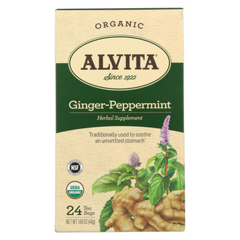Alvita Tea Ginger-Peppermint - 24 Bag