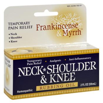 Frankincense and Myrrh Neck, Shoulder, and Knee Oil - 2 fl oz