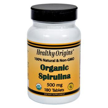 Healthy Origins Organic Spirulina - 500 mg - 180 Ct