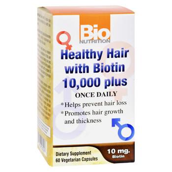 Bio Nutrition Healthy Hair with Biotin - 60 Ct
