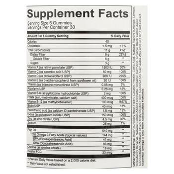 SmartyPants Multivitamin Plus Omega 3 with Vitamin D - 180 Ct