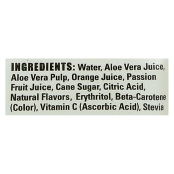 Alo Light Bright Aloe Vera Juice Drink - Orange and Passion Fruit - Case of 12 - 16.9 fl oz.