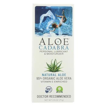 Aloe Cadabra Natural Organic Personal Lubricant - Natural Aloe Unscented - 2.5 oz