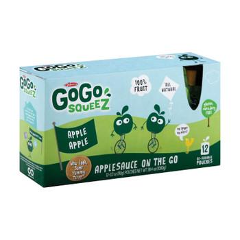 GoGo Squeeze Organic Applesauce - Apple - Case of 6 - 3.2 oz.