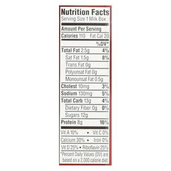 Horizon Organic Dairy Organic Low Fat 1 % Milk - Aseptic - Case of 3 - 6/8 fl oz