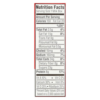 Horizon Organic Dairy Low-fat Milk - Strawberry - Case of 3 - 8 Fl oz.