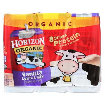 Horizon Organic Dairy Milk - Organic - 1 Percent - Lowfat - Box - Vanilla - 6/8 oz - case of 3
