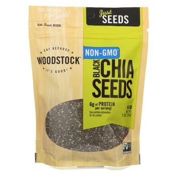 Woodstock Black Chia Seeds - Case of 6 - 7 oz.