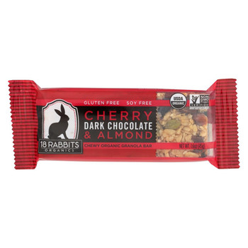 18 Rabbits Bar Cherry, Dark Chocolate and Almond - Case of 12 - 1.6 Oz
