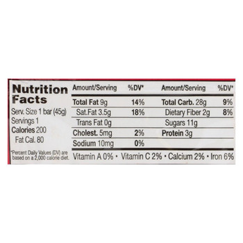 18 Rabbits Bar Cherry, Dark Chocolate and Almond - Case of 12 - 1.6 Oz