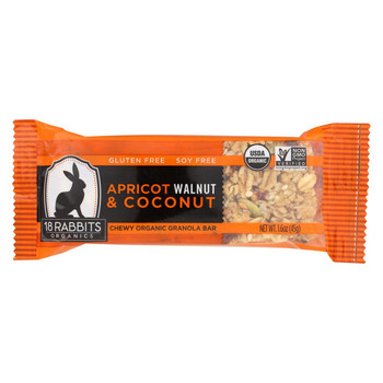 18 Rabbits Bar Apricot, Walnut and Coconut - Case of 12 - 1.6 Oz