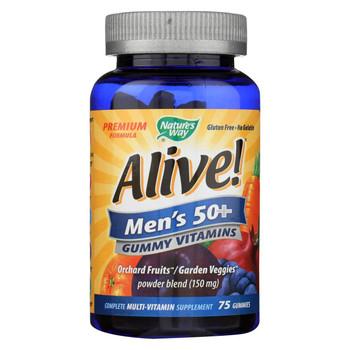 Nature's Way Alive - Men's 50+ Gummy Multi-Vitamins - 75 Chewables