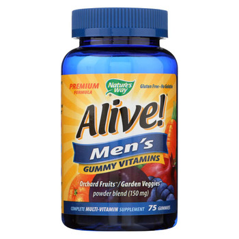 Nature's Way - Alive! Men's Multi-Vitamin Gummies - 75 Gummies