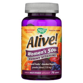 Nature's Way Alive - Women's 50+ Gummy Multi-Vitamins - 75 Chewables
