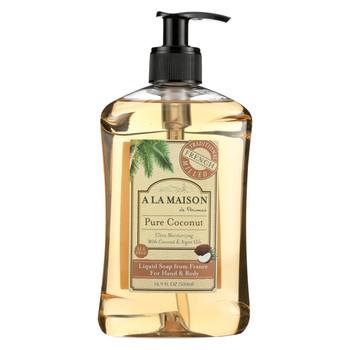 A La Maison French Liquid Soap - Coconut - 16.9 oz