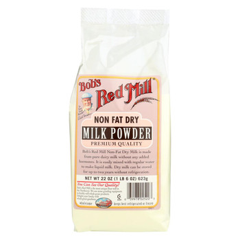 Bob's Red Mill - Bobs Instant Powdered Milk - Case of 4 - 22 oz