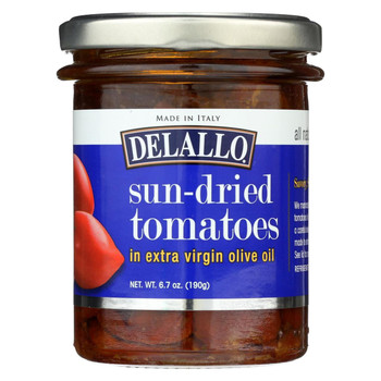 Delallo - Sun-Dried Tomatos - In Extra Virgin Olive Oil - Case of 6 - 6.7 oz.