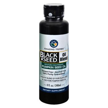Amazing Herbs - Black Seed Oil Blend - Styrian Pumpkin Seed - 8 oz