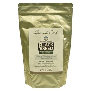 Amazing Herbs - Black Seed Ground Seed - 16 oz