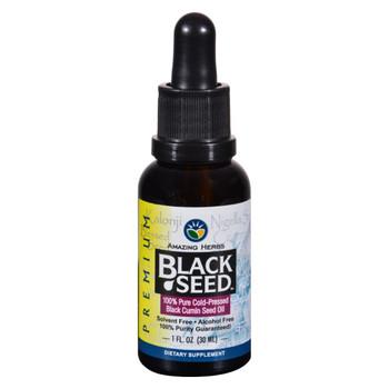 Amazing Herbs - Black Seed Oil - Cold Pressed - Premium - 1 fl oz