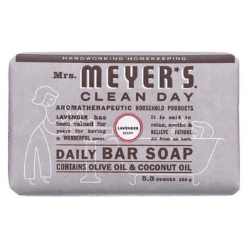 Mrs. Meyer's Clean Day - Bar Soap - Lavender - 5.3 oz - Case of 12
