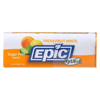 Epic Dental - Xylitol Mints - Fresh Fruit Xylitol Tin - 60 ct - Case of 10