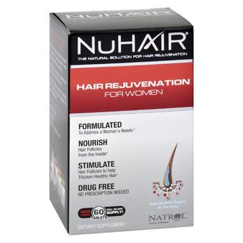 Natrol Hair Regrowth - NuHair Women - 60 Tablets