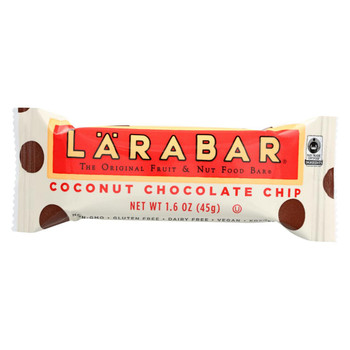 Larabar Fruit and Nut Bar - Coconut Chocolate Chip - 1.6 oz Bars - Case of 16