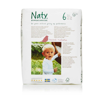 Naty - Baby Diaper Size 6 35 Lb - Case of 4 - 18 CT