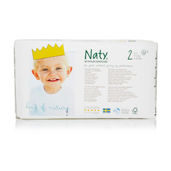 Naty - Baby Diaper Size 2 12-18lb - Case of 4 - 34 CT