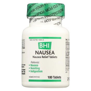 BHI - Nausea Relief - 100 Tablets