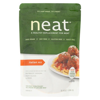 Neat Meat Alternative Mix - Italian - Case of 6 - 5.5 oz