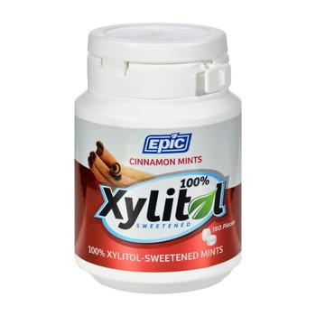Epic Dental - Xylitol Mints - Cinnamon Xylitol Bottle - 180 ct