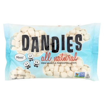 Dandies - Air Puffed Mini Marshmallows - Classic Vanilla - Case of 12 - 10 oz.