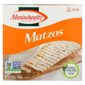 Manischewitz - Matzos Crackers - Unsalted - Case of 12 - 10 oz.