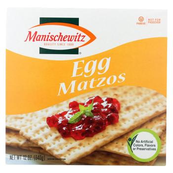 Manischewitz - Egg Matzo - Case of 12 - 12 oz.