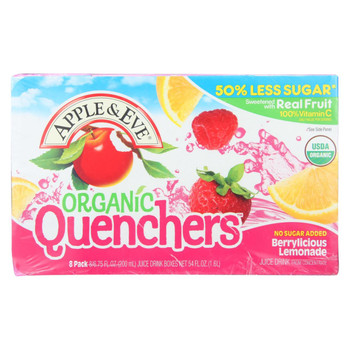 Apple and Eve Juice Boxes Berrylicious Lemonade - Case of 5 - 8/200 Ml