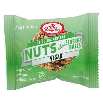 Betty Lou's Nut Butter Balls - Spirulina Ginseng - 1.4 oz - 40 ct