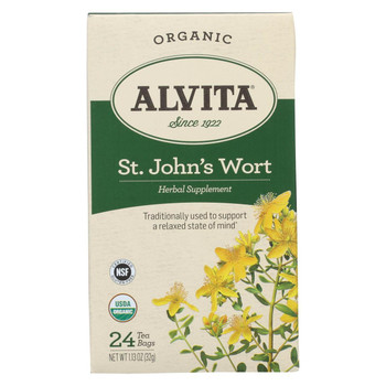 Alvita Tea - Organic - St Johns Wort Herbal - 24 Tea Bags